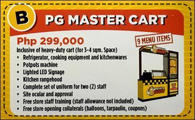 Potato Giant Franchise Master Cart